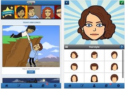Capture d'écran Bitstrips iOS