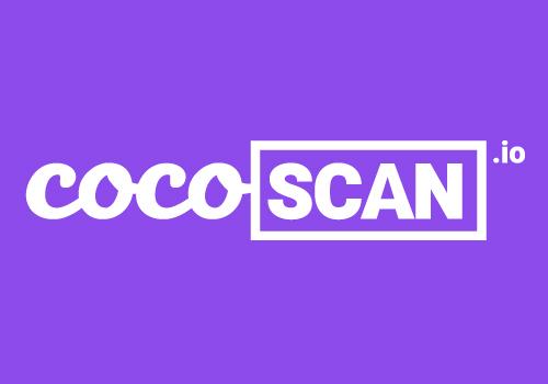 Capture d'écran CocoScan + 2018