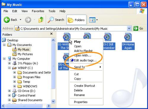 Capture d'écran Oneclick Tag Editor