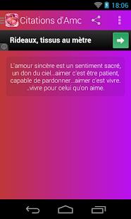 Capture d'écran Citations d'Amour