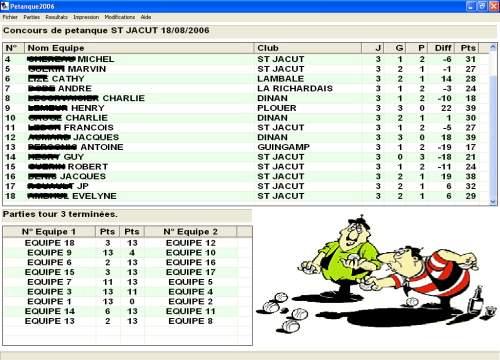 Capture d'écran Petanque 2006