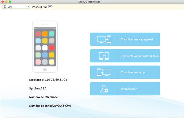 Capture d'écran EaseUS MobiMover Free for Mac