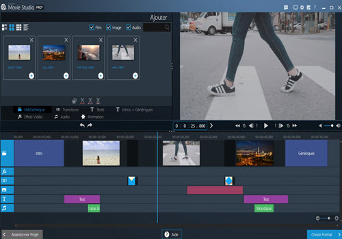 Capture d'écran Ashampoo Movie Studio Pro