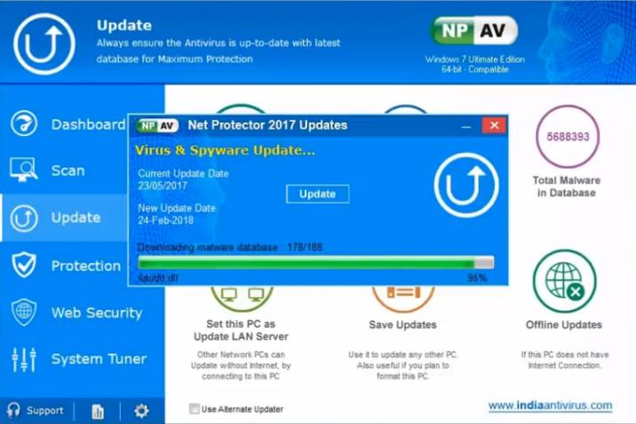 Capture d'écran Net Protector Internet Security