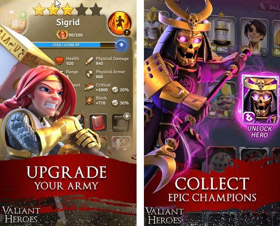 Capture d'écran Valiant Heroes Android
