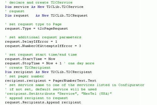 Capture d'écran CT Messenger