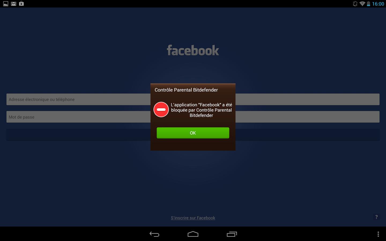 Capture d'écran Bitdefender Parental Control Android