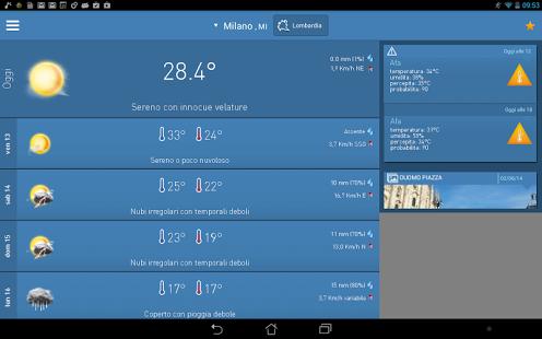 Capture d'écran 3B Meteo – Previsioni Meteo