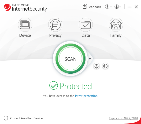 Capture d'écran Trend Micro Internet Security