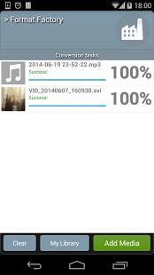 Capture d'écran Format Factory Android