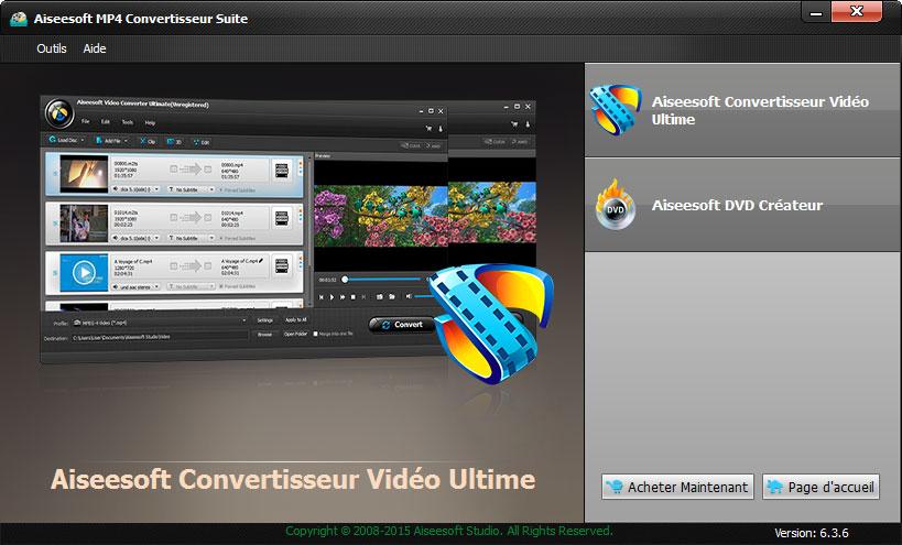 Capture d'écran Aiseesoft MP4 Convertisseur Suite