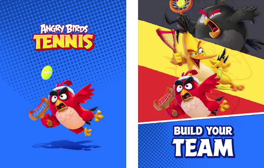 Capture d'écran Angry birds Tennis iOS