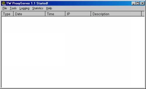 Capture d'écran Twilight Utilities Proxy Server
