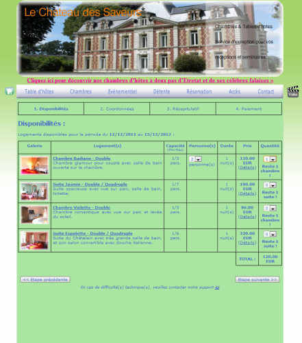 Capture d'écran BookSecure : système de réservation en ligne gratuit