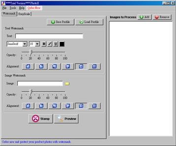 Capture d'écran PhotoX Batch Watermark Creator