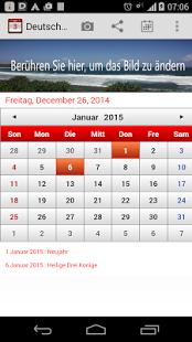 Capture d'écran Deutsch Kalender 2015