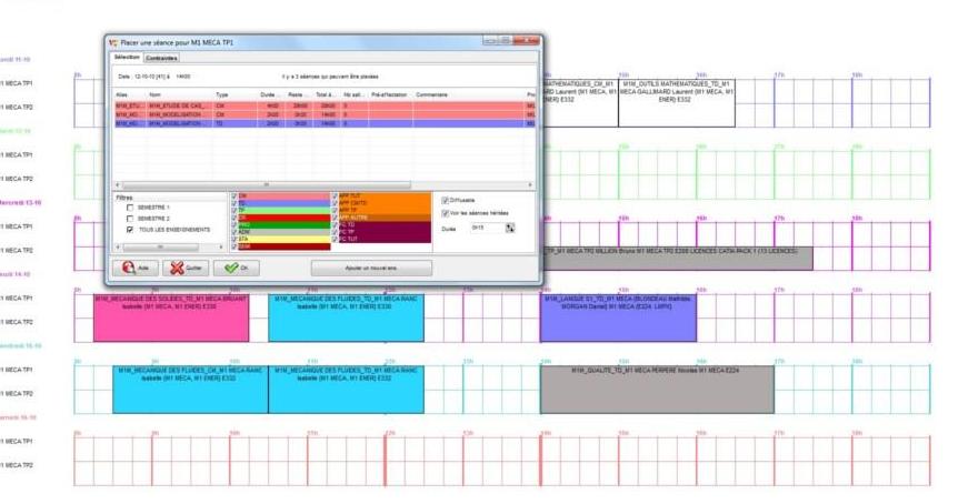 Capture d'écran Visual Timetabling