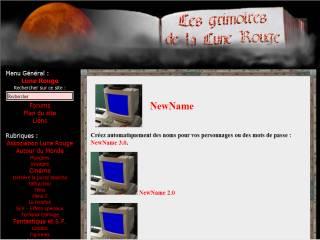 Capture d'écran New Name