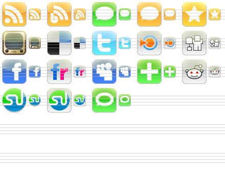 Capture d'écran iPhone Style Social Icons