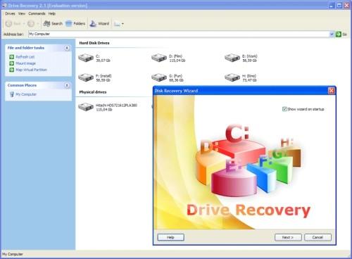 Capture d'écran 1st Drive Recovery
