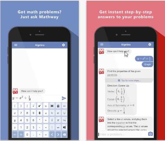 Capture d'écran Mathway iOS