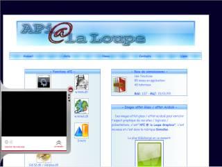Capture d'écran API @ la Loupe Viewer