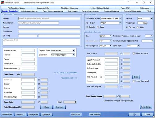 Capture d'écran Courtage Immobilier – Simulation de Crédits