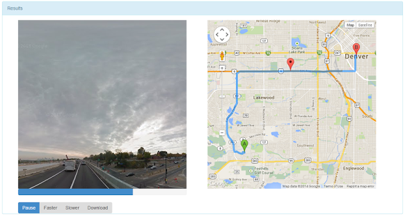 Capture d'écran Google Maps Streetview Player