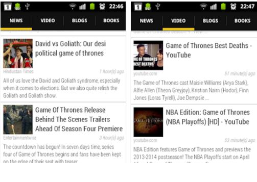 Capture d'écran Game Of Thrones News Android