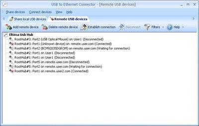 Capture d'écran USB over IP Network