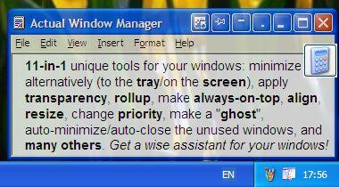 Capture d'écran Actual Window Manager