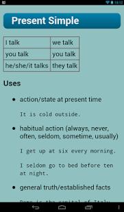 Capture d'écran Verbes Anglais