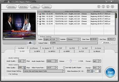 Capture d'écran Alldj DVD Ripper Platinum