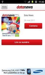 Capture d'écran Data News (fr)