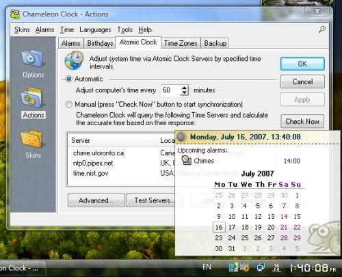 Capture d'écran Chameleon Clock