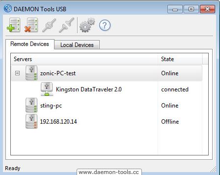 Capture d'écran Daemon Tools USB