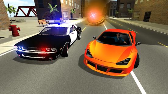 Capture d'écran La poursuite de la police