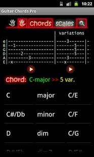 Capture d'écran Guitar Chords Pro