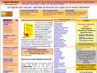 Capture d'écran ImpotRevenu 2005