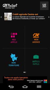 Capture d'écran CA POCKET – CENTRE EST
