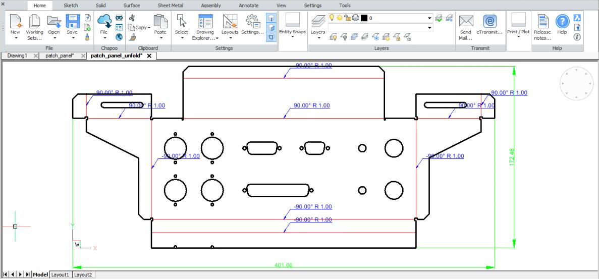 Capture d'écran BricsCAD Platinum Mac