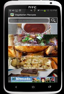 Capture d'écran Recettes végétariennes GRATUIT