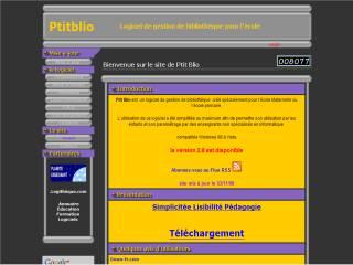 Capture d'écran ptitblio