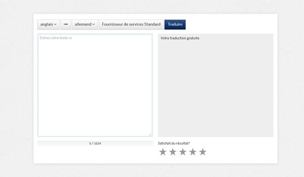 Capture d'écran Pons – Traducteur en ligne