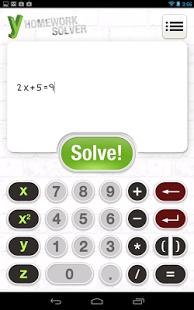 Capture d'écran Y Homework – Math Solver