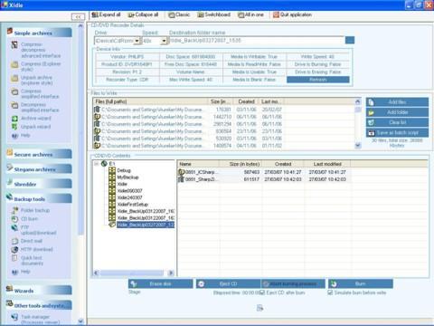 Capture d'écran Xidie Security Suite