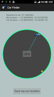 Capture d'écran Car Finder