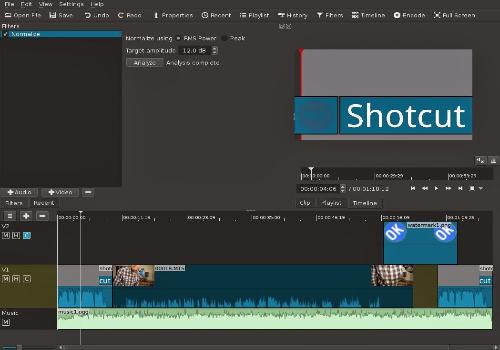 Capture d'écran Shotcut pour Mac