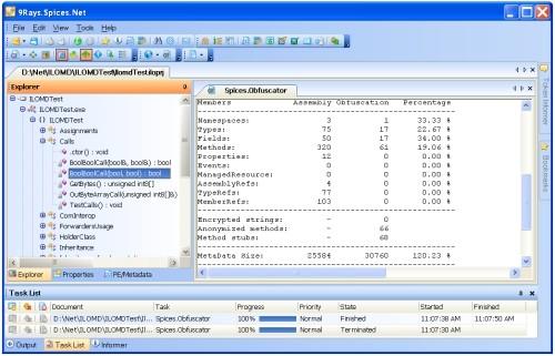 Capture d'écran Spices.Net Obfuscator