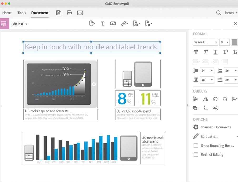 Capture d'écran Adobe Acrobat Pro Mac